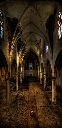 What they've done to the church....... vesica piscis by blackoutangel