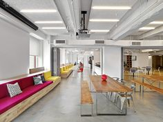 The Creative Class: Manhattan Tech and Media Offices | LinkedIn in Midtown, New York, by M Moser Associates. #design #interiordesign #interiordesignmagazine #architecture #office #furniture @mmoserassociate