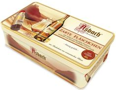 Asbach Uralt Brandy Filled Chocolates 16 Bottle in a Special Tin Gift Box - 200g/7.05oz - http://mygourmetgifts.com/asbach-uralt-brandy-filled-chocolates-16-bottle-in-a-special-tin-gift-box-200g7-05oz/