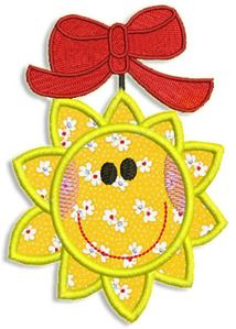 "Here's a free embroidery design that's a ""Sun"".  Gotta love it!"