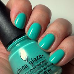 China Glaze Aquadelic. I got this and was so shocked that from the bottle it didn't look as bright. I put it on 2 coats and it is NOT this bright. It still stands out but it is NOT a neon and is by no means bright. Still enjoy the color but wish it would've been brighter.