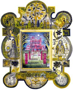 "Ed Kluz ""Blickling Hall"" collage and mixed media."