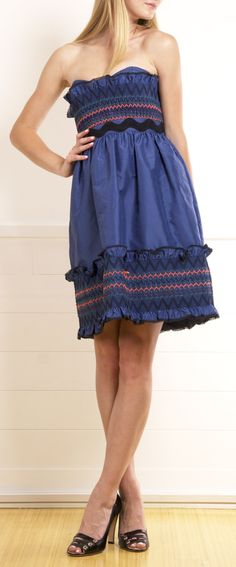 LUELLA Polly strapless dress