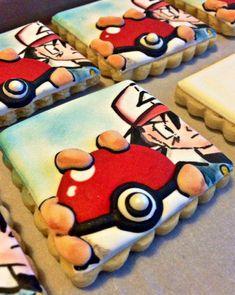 Crazy Cookies, Cookies For Kids, Fancy Cookies, Drop Cookies, How To Make Cookies, Yummy Cookies, Sugar Cookies, Pokemon Cupcakes, Pokemon Party