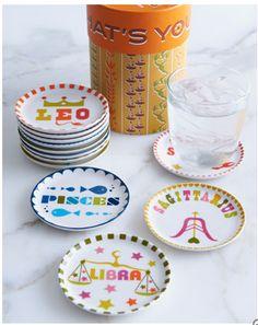 Coaster set - the Libra one is so adorable!