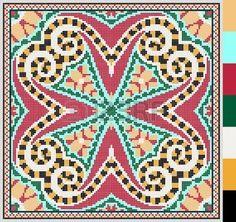 Modelo cuadrado geom�trico de punto de cruz bordado tradicional ucraniano, que…