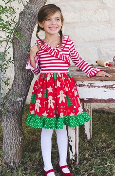 65dda0b6a0ca Candy cane stripes and gingerbread man will have your little one looking  extra sweet this Christmas