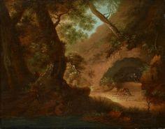 Caspar David Friedrich - Wölfe im Wald vor einer Höhle (Wolfsschlucht)