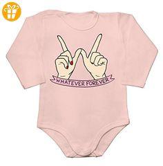 Whatever Forever Hands Showing W Letter Baby Long Sleeve Romper Bodysuit XX-Large - Baby bodys baby einteiler baby stampler (*Partner-Link)
