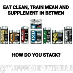 """Still not getting the results you want? Part of a good fitness regime is eating clean, and training hard but do you supplement what lacks in between? Cellucor offers a complete line of supplements to help you get the results you want. Ask us how to stack with Cellucor supps! Save 20% on all orders plus free shipping with discount code """"TUFFENUP"""" Eat Clean, Train Mean & Supplement in Between!"""