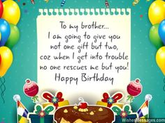 Aw A Cute Birthday Greeting For Brothers I Am Going To Give You