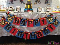 I like this banner!!  Partylicious: {Transformers Birthday Bash}