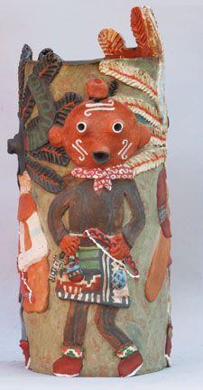 "Canyon Road Contemporary - Molly Heizer - ""Ogre Vase""  #native #art #ceramic #vase #ogre"