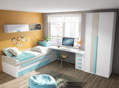 Double room / Shared Room / Dormitorio Doble / Habitacion compartida juvenil Catálogo UP16 www.exojo.com #sharedroom #juniorroom #dormitoriojuvenil