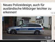 Neues Polizeidesign, auch für ausländische Mitbürger leichter zu erkennen!