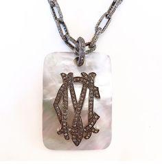 Custom diamond dog tags. Bella Madre Jewelry