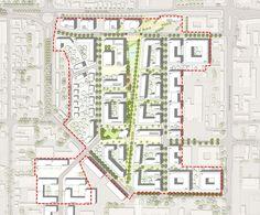"""Städtebaulicher Entwurf - """"Lebendige Mischung am Park"""""""