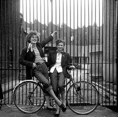 Ken Russell london teddy girls = how cool !! i found the original Hipsters this morning !! Teddy boys and girls from London in the 1950's : Teddy Boy (also known as Ted) is a British subculture typified by young men wearing clothes that were partly inspired by the styles worn by dandies in the Edwardian period, styles which Savile Row tailors had attempted to re-introduce in Britain after World War II. The subculture started in London in the 1950s, and rapidly spread across the UK.