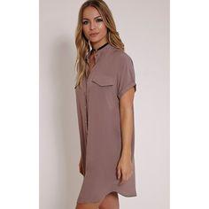 #Mink short sleeve #shirt #dress sourced by summerocha.polyvore