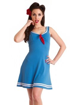 Steady Clothing Rock Steady Women's Marina Dress (modcloth: Embraceable Blue Dress)