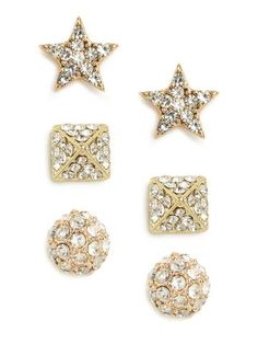 Party Pave Stud Trio | Baublebar