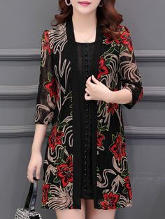 Lace Patchwork Elegant Cardigan Shop the latest women's clothes and keep your style game strong with the freshest threads landing daily. Shopping is a right # Stylish Dresses For Girls, Trendy Outfits, Girls Dresses, Lace Cardigan, Cardigan Fashion, Looks Camisa Jeans, Dress Outfits, Fashion Dresses, Style Japonais