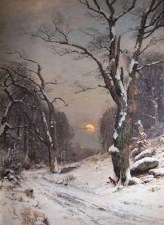 UNTITLED (Winter Landscape)  UNTITLED (Winter Landscape) Wilhelm Schroeter A.k.a.: Dated: 1889
