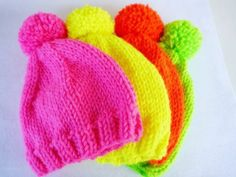 Neon Unisex Hats... by MINETSYDESIGN on Etsy, $20.00