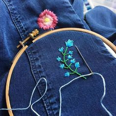 Working on something new just for myself! Any guesses as to what it is?! #happycactusembroidery