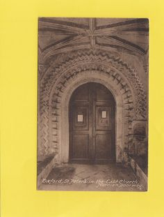 St Peter's in the East Church , NORMAN DOORWAY , OXFORD ( o47 ) | eBay