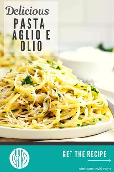 Pasta Aglio e Olio (Pasta with Garlic and Oil) is easy to make, delicious to eat and the sexiest pasta recipe I know. In about 20 minutes you'll be serving glistening pasta (spaghetti and linguine are both great options!) loaded with olive oil, toasty garlic, fresh parsley, zesty lemon juice and a kick of crushed red pepper. One of the simple and spectacular dishes inspired by the movie Chef! #pastaaglioeolio #easypastarecipe #simplepastarecipe #pasta #chefthemovie Aglio E Olio Recipe, Pasta Aglio E Olio, Movie Chef, Ragu Recipe, Pasta Spaghetti, Garlic Pasta, Easy Pasta Recipes, Linguine, Parsley