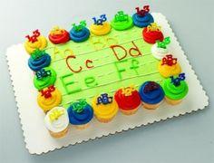 ABC Cupcake cake