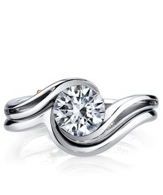 Aerial Engagement Ring - Mark Schneider Design All time FAVORITE design. With the wedding band it reminds me of an ocean wave! Namaste D.F