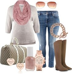 """""""Rose Gold - Plus Size"""" by alexawebb ❤ liked on Polyvore"""