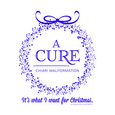 """""""A Cure - It's What I Want For Christmas"""" This is one of our most popular designs! Tell the world what so many wish for - A Cure for Chiari Malformation! Available in an array of colors for shirts, hoodies, totes & more. #ChiariMalformation #Chiari #CM #ChiariGear - a tiny little business with a really BIG purpose! #Awareness #WeGetIt www.ChiariGear.com"""
