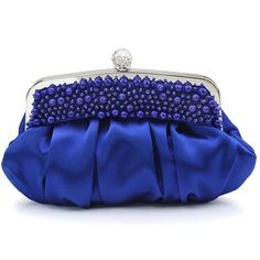 Chic Hand-beaded Satin Rhinestone Decoration Women's Evening Bag Clutches Purse $28