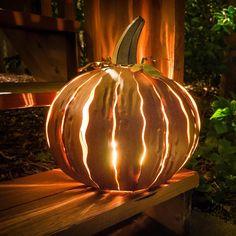 Squatty Orange Pumpkin Luminary
