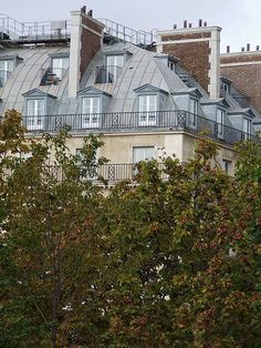 Oh how I love those grey roofs. Paris Rooftops, My French Country Home, France Travel, Artsy, Map, Spaces, Mansions, House Styles, Manor Houses