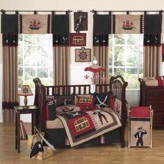 Pirate Treasure Cove Bedding by Sweet Jojo Designs - Pirate Baby Crib Bedding - pirate-9