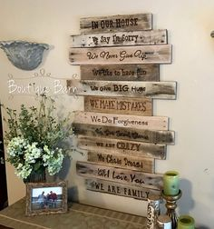 Family Rules/Family Sign/Wood Signs/Signs/Personalized/Reclaimed Wood/Farmhouse Decor/Rustic Home Decor/Gift For Mom/Wall Decor/Home Decor This is rustic Family Sign for your home. It is the type of w Family Rules Sign, Family Wood Signs, Rustic Wood Signs, Rustic Wall Art, Wood Wall Decor, Rustic Walls, Rustic Kitchen Decor, Rustic Farmhouse Decor, Rustic Decor