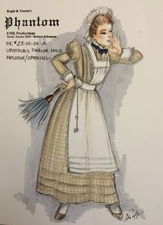 Kopit & Yeston's Phantom (Upstairs Parlor Maid). EMK Productions, Seoul, Korea. Costume design by Gregory A. Poplyk. 2015