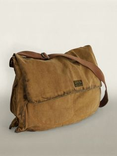 RRL Utica Canvas Messenger