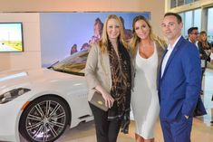 Louise Bristow, Gabriella Loessin and Carlos Herrera with the Karma Revero Luxury Automotive, Automotive Design, Las Vegas Shopping, Customer Experience, Rolls Royce, Nevada, Karma, Best Deals, Things To Sell