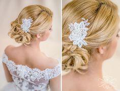 Braut+Haarschmuck+Spitze+Perlen+Headpiece+Blume+von+Princess+Mimi++auf+DaWanda.com