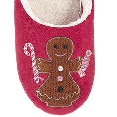 John Lewis Mr & Mrs Gingerbread Mule Slippers Stocking Fillers, Mr Mrs, John Lewis, Gingerbread, Slippers, Stockings, Socks, Ginger Beard, Slipper