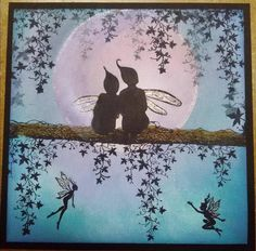 Star Gazing by Lavinia Stamps Clear Polymer Stamp Lavinia Stamps Cards, Fairy Silhouette, Fairy Jars, Fairy Crafts, Ink In Water, Fantasy Creatures, Stargazing, Stampin Up Cards, Deco