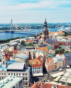 In Riga, Latvia.