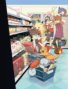 Pokemon:: Pokemart by kissai.deviantart.com on @deviantART