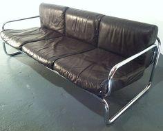 OMK Leather Sofa by Rodney Kinsman a vintage 20th century design sofa