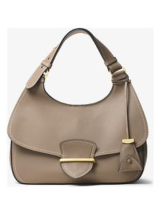49bfc1f3db60 Michael Kors Collection Josie Large French Calf Leather Shoulder Bag Leather  Shoulder Bag